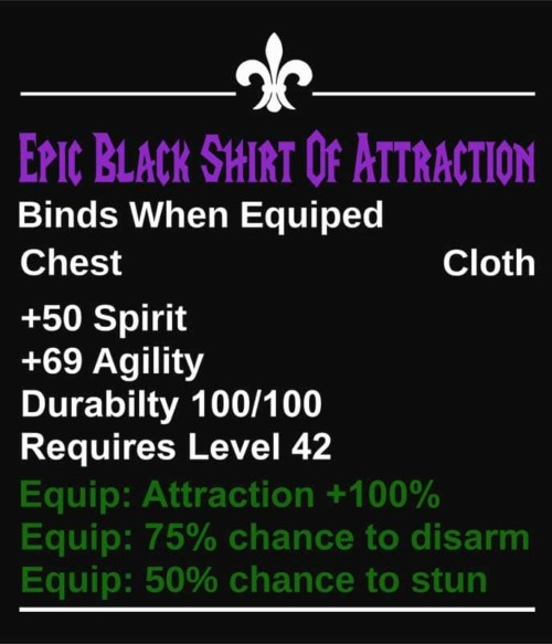 Epic Black Shirt Of Attraction