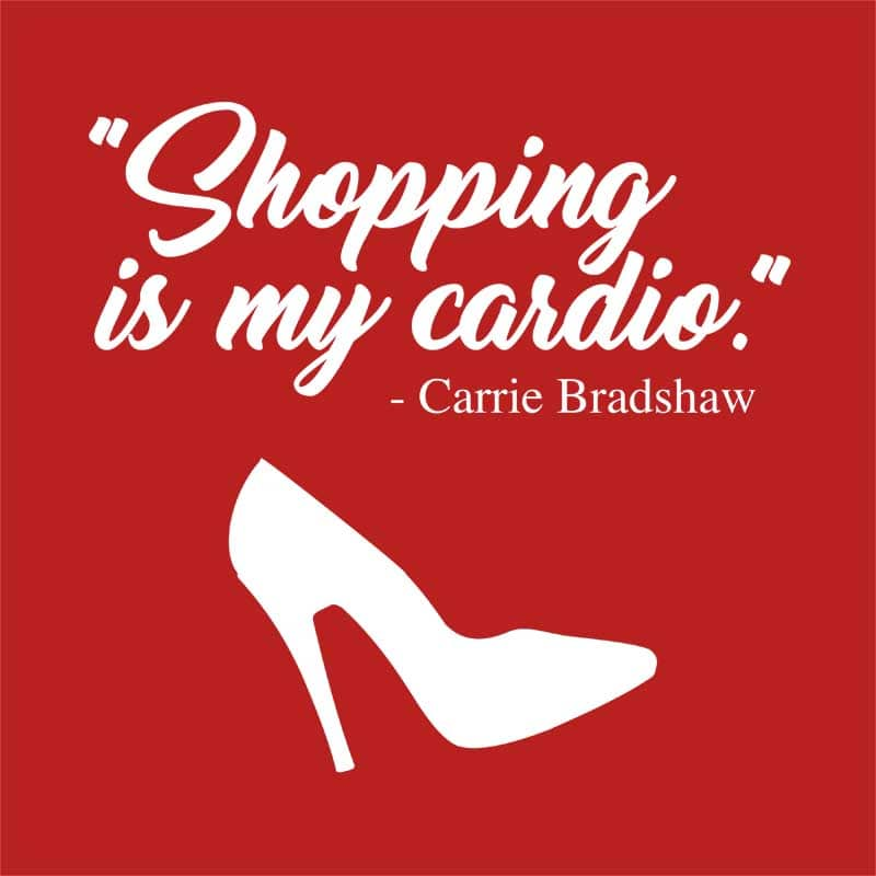 Shopping is my cardio Póló - Ha Sex and the City rajongó ezeket a pólókat tuti imádni fogod!