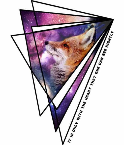 The Little Prince Fox Quote Galaxy Triangle