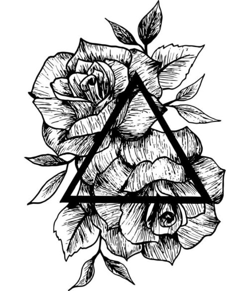 Rose and triangle