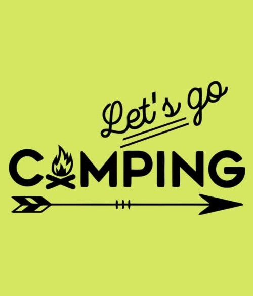 Let's go camping arrow