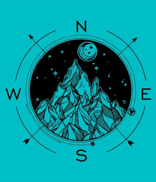 Wind rose and mountains