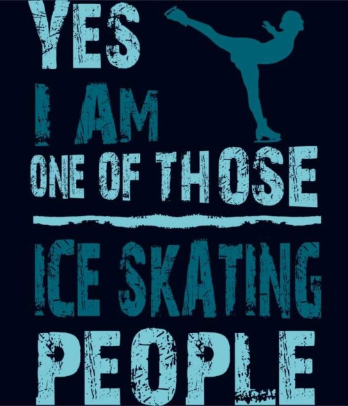 Ice skating people