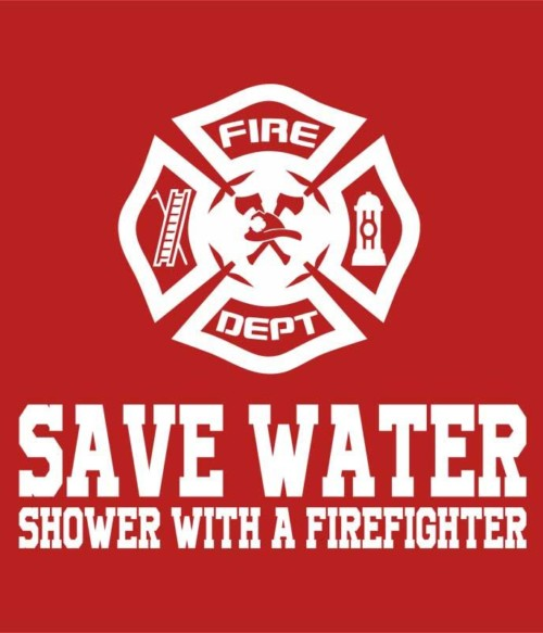 Shower with a firefighter