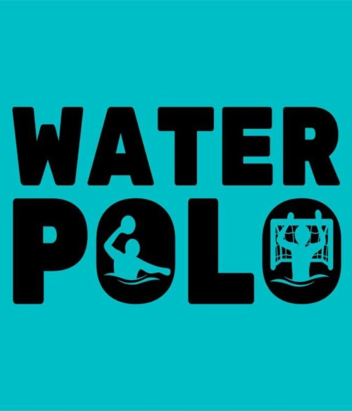 Water Polo Text Silhouette