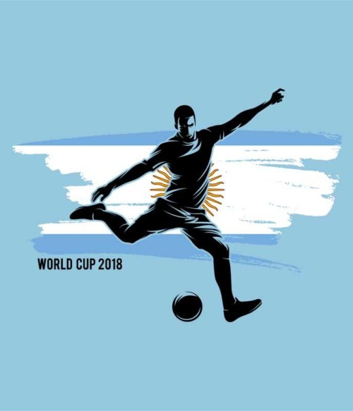 World Cup Flag Player Argentina